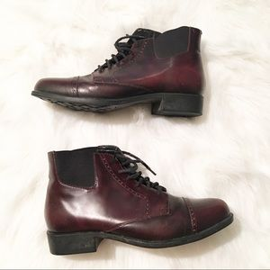 Ariat maroon heeled ankle boots pointed toe 8 m